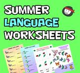 Summer Speech & Language Worksheets - No Prep