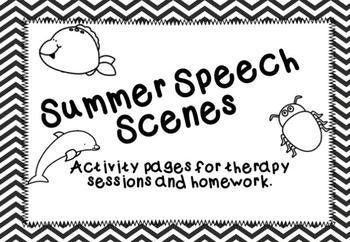 Summer Speech Scenes Articulation & Language Practice, bas