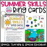 Summer Speech Therapy Activities