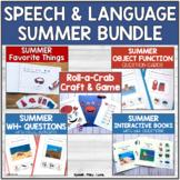 Summer Speech Therapy Activities BUNDLE - Lots of Visuals