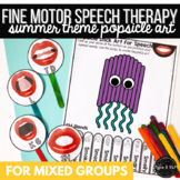 Summer Speech Therapy & Fine Motor Practice: Popsicle Stick Articulation