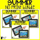 Summer Speech Therapy NO PRINT Bundle