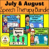 Summer Speech Therapy Printable Pack Bundle