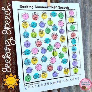 Summer Speech Therapy Seeking Activity {articulation}