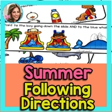Summer Speech Therapy | Summer Speech and Language | Following Directions