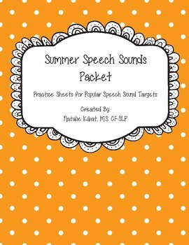 Summer Speech Word Lists