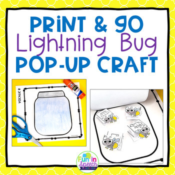 Summer Speech and Language Craft with Lightning Bug Theme