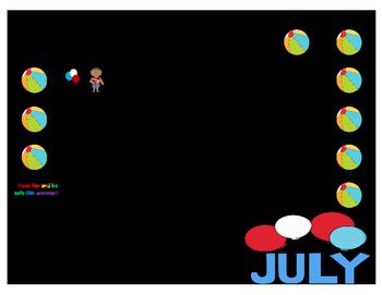Summer Speech-language Calendar
