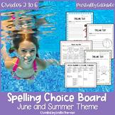 Summer Spelling Choice Menu   EDITABLE   Summer School   S