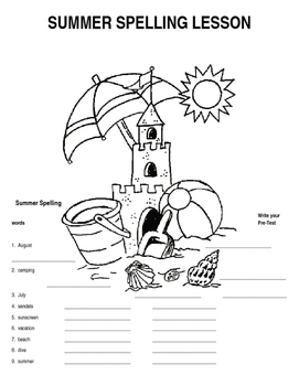 Summer Spelling Lesson