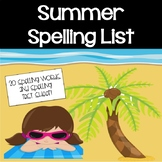 Summer Spelling List