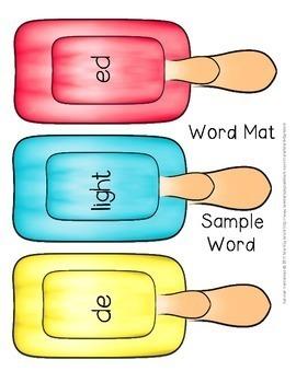 """Decoding Multisyllabic Words WORD CARDS: """"De"""" SUMMER MIX & MATCH"""