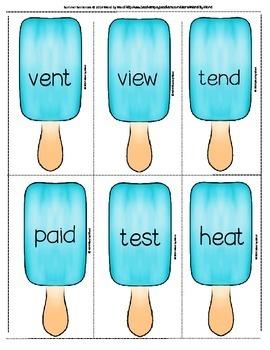 "Decoding Multisyllabic Words WORD CARDS: ""Pre"" SUMMER MIX & MATCH"