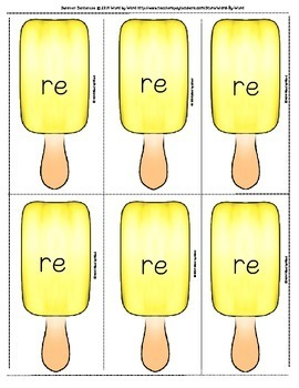 "Summer Spelling Word Card Fun With Prefixes - ""Re"""