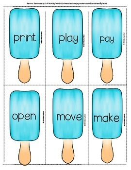 "Decoding Multisyllabic Words WORD CARDS: ""Re"" SUMMER MIX & MATCH"
