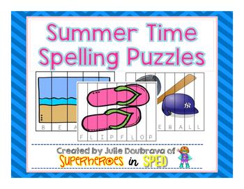 Summer Spelling Puzzles