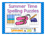 Summer Spelling Puzzles