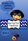 Summer Spelling Test Template!