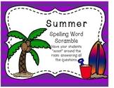 Summer Spelling Word Scramble