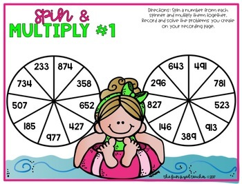Multi Digit Multiplication - Summer Spin and Multiply