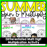 Multi Digit Multiplication   Summer Spin and Multiply