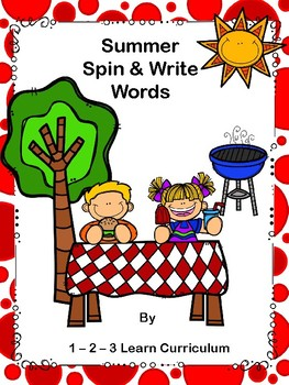 Summer Spin and Write Literacy Center