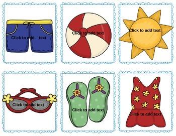 Summer Splash! An editable card game to teach any concept