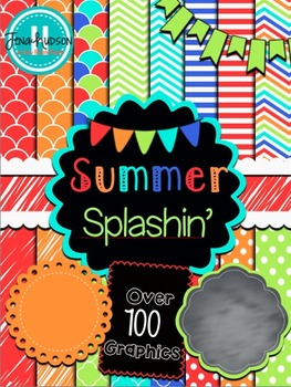 Summer Splashin' ~ digital papers, frames, and banners