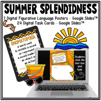 Summer Task Cards: Figurative Language, Analogies, and Couplets