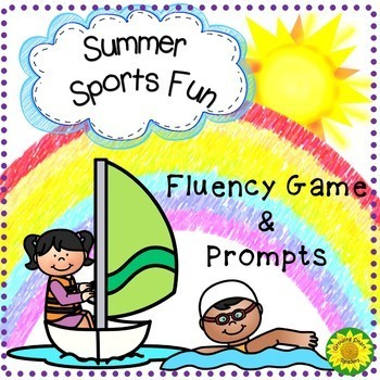 Summer Sports Fluency Game and Writing Prompts