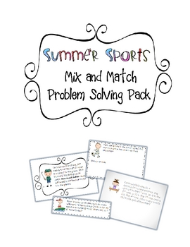 """Summer Sports"" Mix and Match Problem Solving Pack"