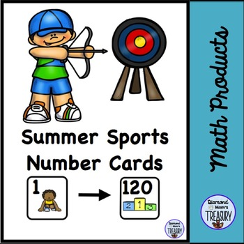 Summer Sports Number Cards