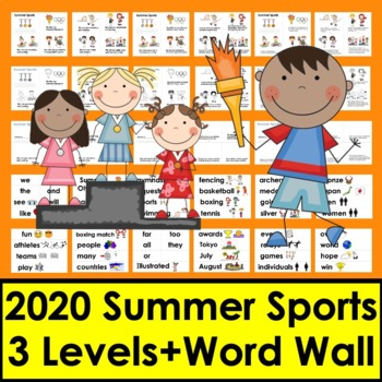 Summer Activities:  Summer Sports 2016 Readers - 3 Levels + Vocab Summer School