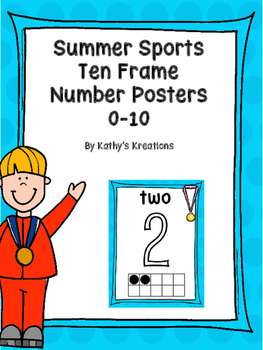 Summer Sports Ten Frame Number Posters