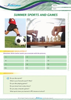 Summer - Sports and Games During the Summer Holiday - Grade 6