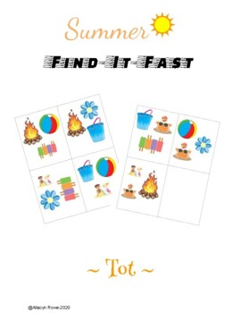"""Summer """"Find-It-Fast!"""" - Tot Edition"""