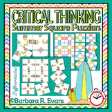 CRITICAL THINKING PUZZLES Summer Activity Brain Teasers Differentiation GATE
