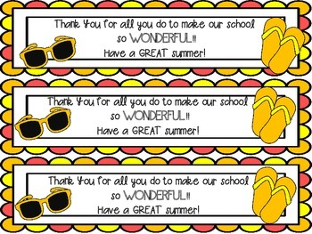 Summer Staff Appreciation FREEBIE