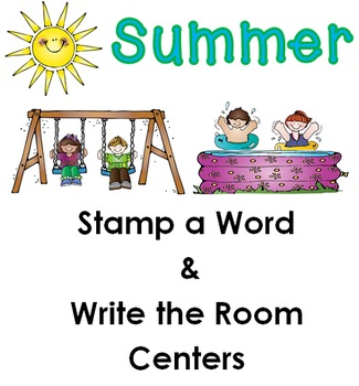 Summer Stamp a Word and Write the Room