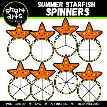 Summer Starfish Spinners Clip Art