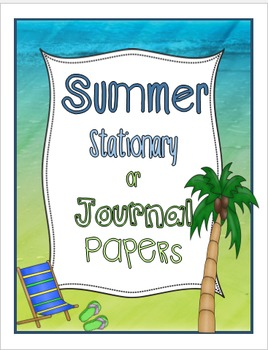 Summer Stationary or Journal Papers