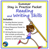 Summer Stay in Practice Packet - Writing, Grammar, and Spelling