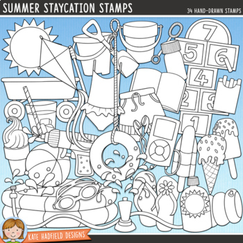 Summer Staycation Clip Art