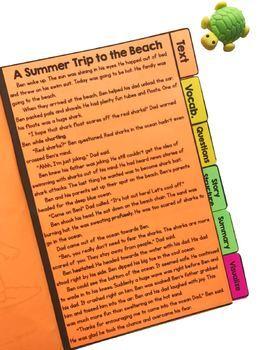 Summer Stories Comprehension Flip Book Activities- 2nd & 3rd grade