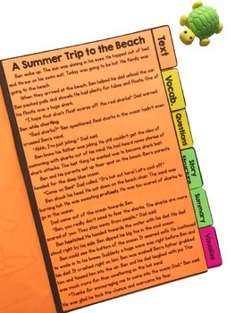 Summer Stories Comprehension Flip Book Activities- 2nd & 3rd grade