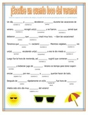 Summer Story Mad Lib in Spanish