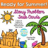 Summer Story Problem Task Cards (Addition, Subtraction, Mu