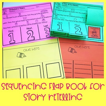 Summer Story Retelling and Sequencing Flap Book | First, Next, Last