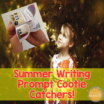 Writing Prompt Cootie Catcher Game with Writing Paper for Summer
