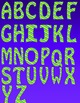 Alphabet Letters Clipart - Stripes